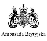 Logo Ambasady Brytyjskiej