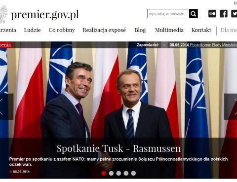 Zrzut z ekranu strony premier.gov.pl