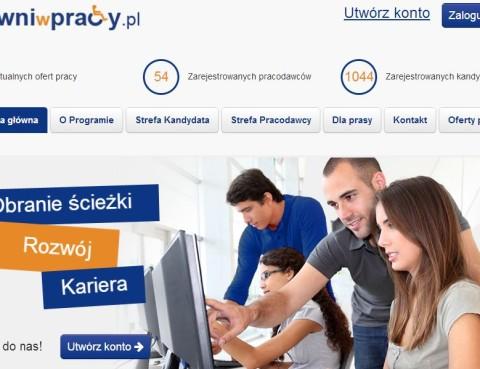 Zrzut z ekranu serwisu sprawniwpracy.pl