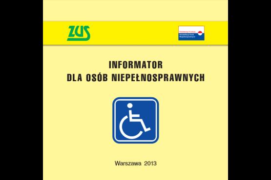 """Okładka publikacji """"Informator dla osób niepełnosprawnych 2013"""""""