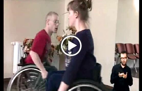 Para tańcząca na wózkach