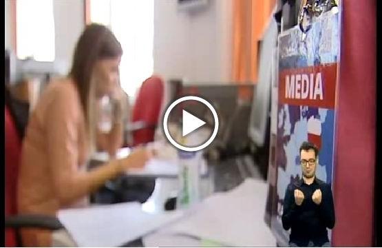 """Kadr z programu """"Misja Integracja"""" o dziennikarzach z niepełnosprawnością"""