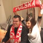 Roman Roczeń i Agnieszka Więdłocha na planie zdjęciowym