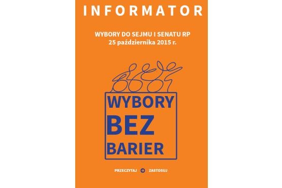 Okładka publikacji Informator Wybory bez barier