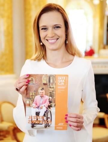 Paulina Chylewska z magazynem Integracja