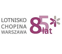 Logo Lotnisko Chopina w Warszawie z okazji 85-lecia