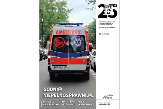 okładka 1/2019 numeru magazynu Integracja z karetką